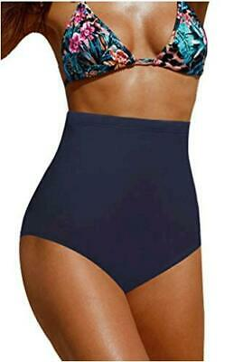Women s High Waisted Swimsuit Bikini Bottoms, Navy Blue, Size X-Large 2M24 - $13.99