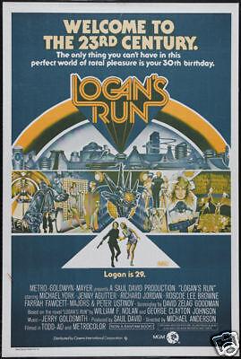 Logan's run Michael York cult sci fi movie poster
