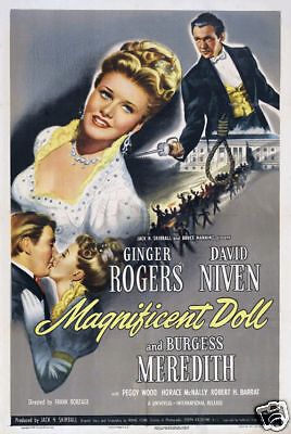 Magnificent doll Ginger Rogers vintage movie poster