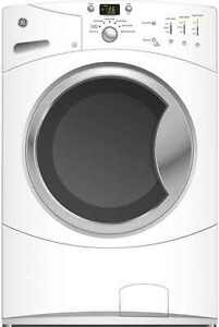 GE FRONT LOAD WASHER & DRYER SET WHITE