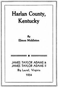 History of Harlan County Kentucky KY