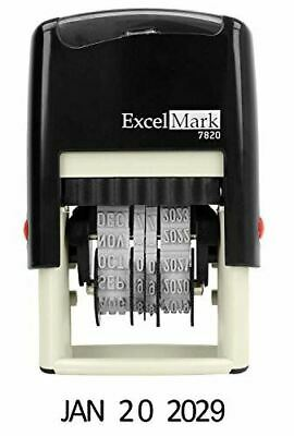 Excelmark 7820 Self-inking Rubber Date Stamp 38 X 1-14 Impression Size G