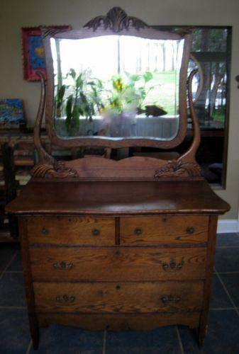 Antique Oak Dresser Ebay