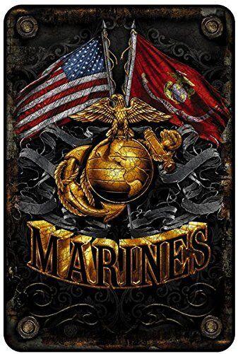 MARINES  metal sign ... Semper Fidelis /  Semper Fi  / US Marine Corps Sign