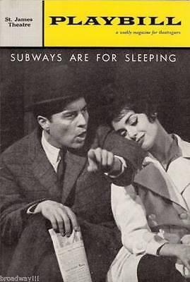 "Jule Styne ""SUBWAYS ARE FOR SLEEPING"" Sydney Chaplin / Carol Lawrence 1962"
