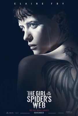 THE GIRL IN THE SPIDER'S WEB poster Original Movie Poster 11 x 17 Claire Foy