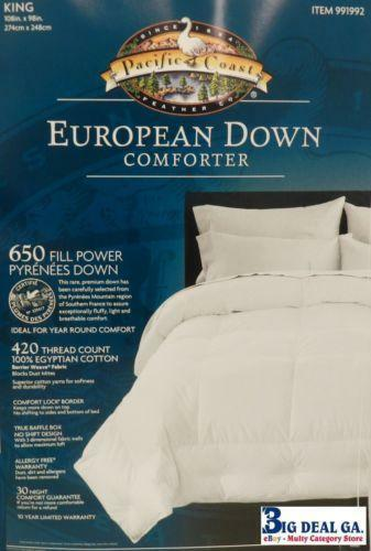 Pacific Coast Down Comforter King Ebay