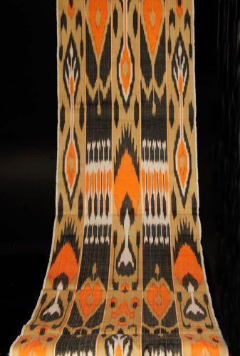Orange Ikat Fabric Ebay