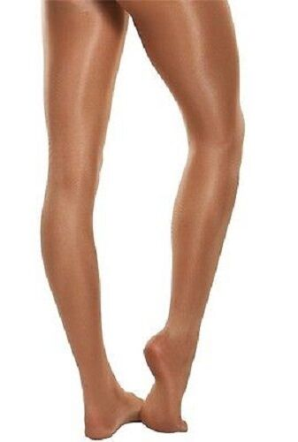 Body Wrappers A55 Toast Adult Size Large Ultimate Shimmer Shimmery Footed Tights