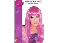 LONG PURPLE FANCY DRESS WIG GREAT FOR PARTY OR HEN DO WIG