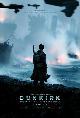 Dunkirk Movie Poster 2 Sided Original Advance 27X40 Tom Hardy Christopher Nolan