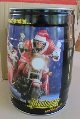5 Liters Keg Altenburger Beer Can ( Santa on Biker ) From Germany Nice!