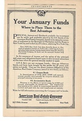 1914 American Real Estate Company New York Advertisement  A