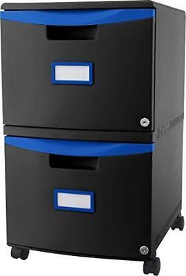 Storex 2-drawer Mobile File Cabinet 61314u01c