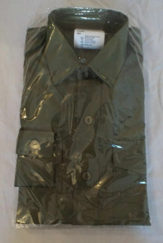 BRAND NEW OLIVE GREEN GENERAL SERVICE ARMY LONG SLEEVE SHIRTS SIZE 35/37