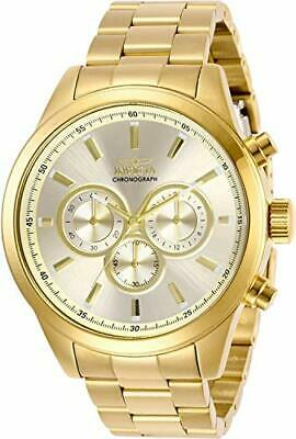Invicta Men's 29174 Specialty Quartz Chronograph Gold Dial Watch
