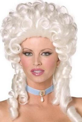 White Marie Antoinette Wig Ladies Fancy Dress French - Marie Antoinette Fancy Dress Kostüme