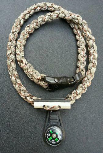 Paracord necklace sporting goods ebay for How to make a paracord lanyard necklace