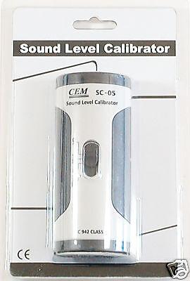 Sc-05 Industrial Sound Level Meter Mic Calibrator 94 114 Db Iec 942 Class 2 New