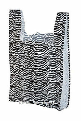 Plastic Shopping Bags 1000 Animal Zebra Grocery Merchandise 11 X 6 X 21