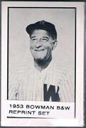 1953 Bowman Black and White