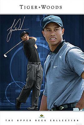 RARE Tiger Woods INTIMIDATION Nike PGA Golf Signature Series POSTER