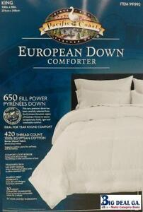 pacific coast down comforter king