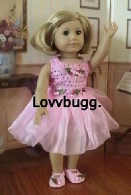 "Lovvbugg Sequin Roses Ballet for 18"" American Girl Doll Clothes"