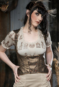 Lip-Service-Step-In-Time-Underbust-Corset-Victorian-Steampunk-Lolita-Clockwork