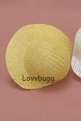"Lovvbugg Natural Straw Poke Bonnet HAT for 18"" American Girl Doll Clothes Accessory"