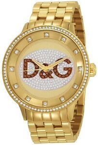 NEW D&G DOLCE & GABBANA DW0379 GOLD PRIME TIME WATCH - 2 YEAR WARRANTY