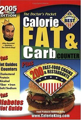 The Doctors Pocket Calorie, Fat & Carb Counter by Allan Borushek