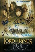 Lord of The Rings Signed Poster