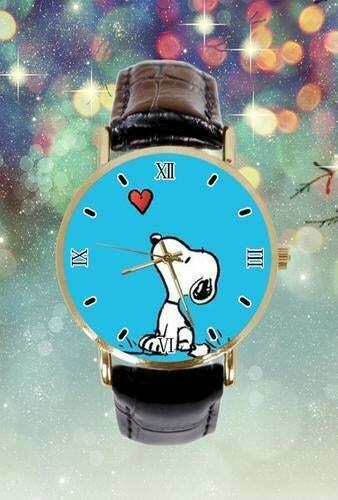 Snoopy Blue Face Watch Women
