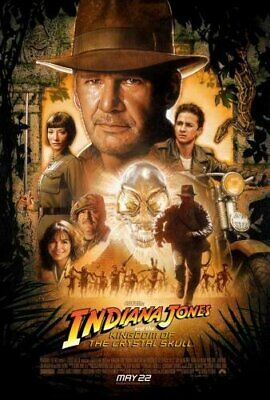 Indiana Jones Crystal Skull Movie Poster 11x17 Master Print