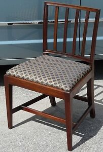 Antique Georgian Square Back Chair, Solid Mahogany Kingston Kingston Area image 5