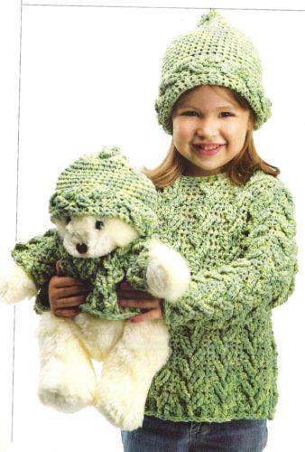 Girls Crochet Sweater Pattern Ebay