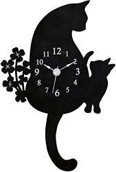 New Cat pendulum clock Wall Clocks G-1143 B
