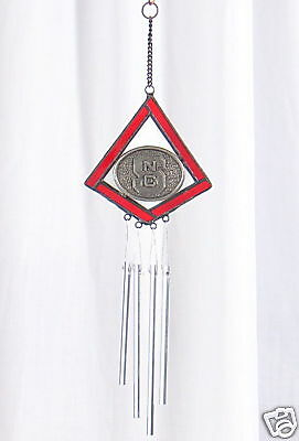 NC State Wolfpack STAINED GLASS WIND CHIME Ornament North Carolina -