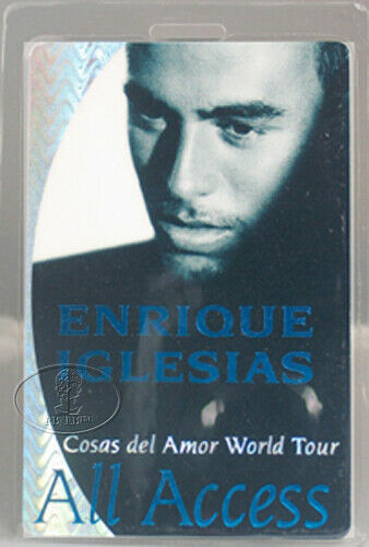 ENRIQUE IGLESIAS 1997-98 TOUR LAMINATED BACKSTAGE PASS