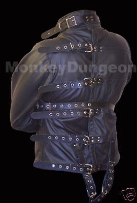 All leather Straight Jacket large restraint houdini - Houdini Kostüm