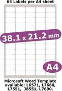 Clear Laser Labels