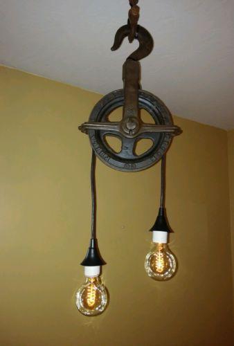 pulley light ebay. Black Bedroom Furniture Sets. Home Design Ideas