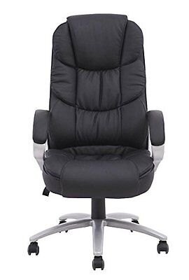 Boss Chair - High Back Leather Executive Office Computer Gaming Table Desk Heavy
