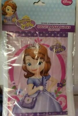 25/50 pcs Princess Sofia the First Birthday Party Favors Treat Loot Candy Bags - First Birthday Favors