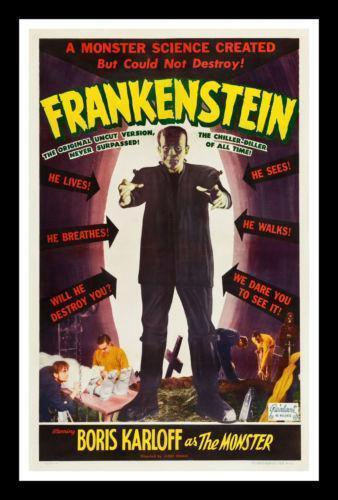 Original Frankenstein Poster Ebay