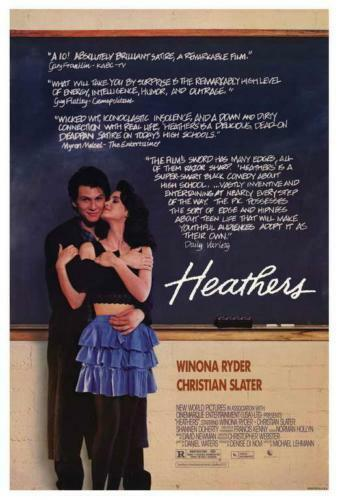 heathers movie poster 1988