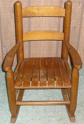 Vintage Childs Rocking Chair Ebay
