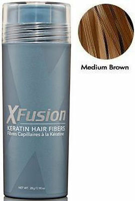 Xfusion Hair Fiber - XFusion Keratin Hair Fiber Medium Brown 28 Gram