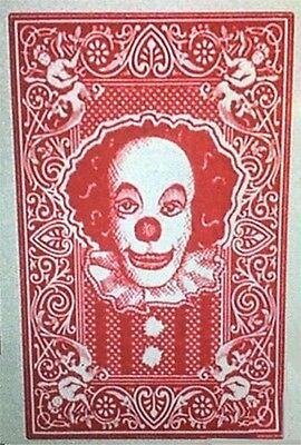 1990 Stephen King's IT Pennywise the Clown playing card replica magnet - new! (Play Magnets)